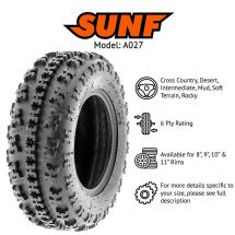 "23x7.00x10"" / 23x7x10"" SUNF A-027F TYRE 4 PLY X-GRIP ATV QUAD E-MARKED"